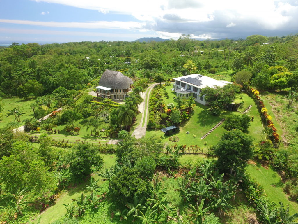 Aerial View of Samoan Highland Retreat