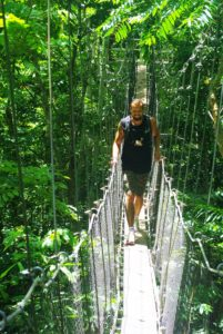 Samoan Adventure on a Rope Bridge